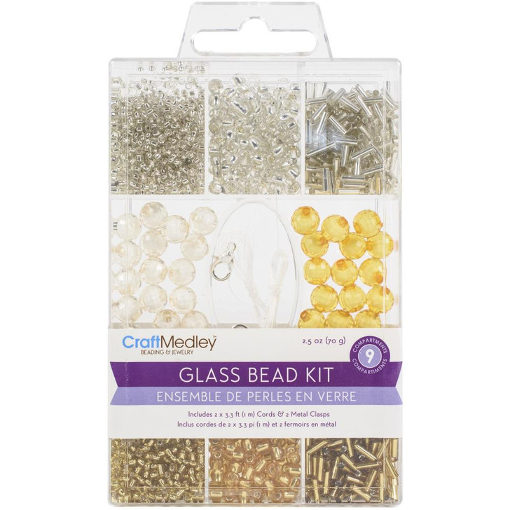 Multicraft Metallique Glass Bead Kit 90g
