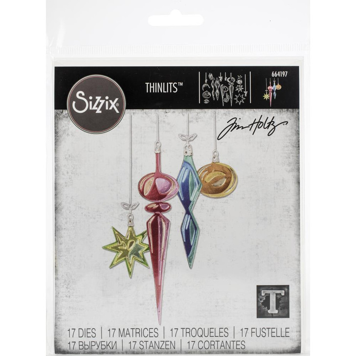 Sizzix Thinlits Hanging Ornaments By Tim Holtz