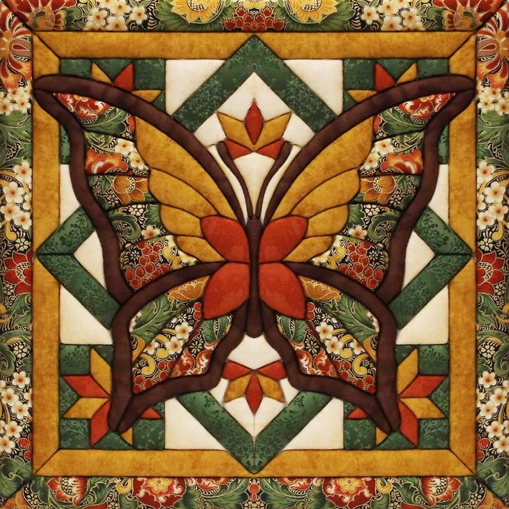 Quilt Magic Fall Butterfly No Sew Wall Hanging Kit