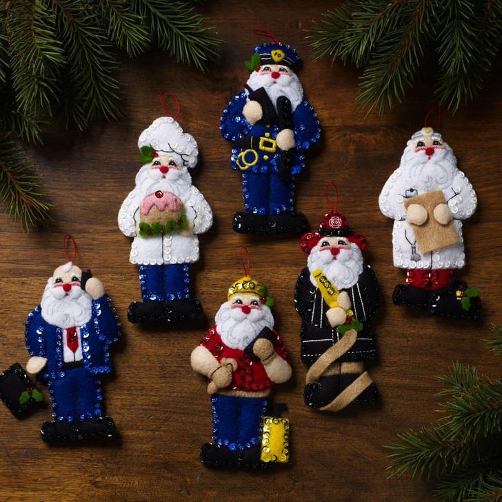 Bucilla Nick Of All Trades Felt Ornaments Applique Kit