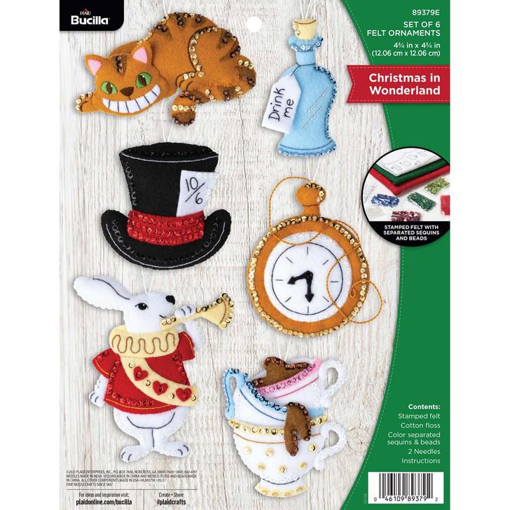 Bucilla Christmas In Wonderland Felt Ornaments Applique Kit