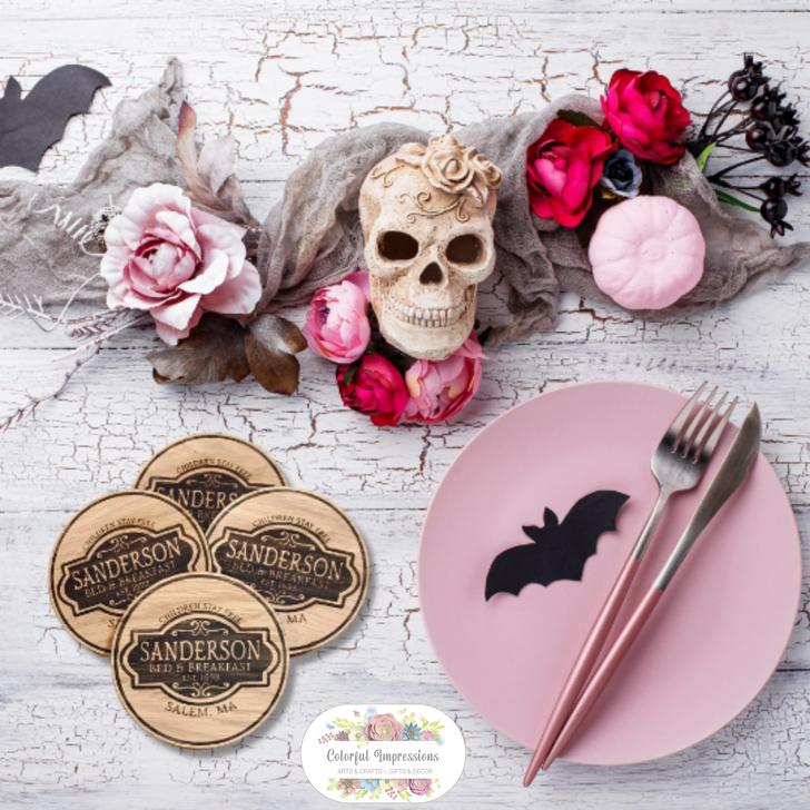Sanderson Bed & Breakfast Halloween Coasters Set