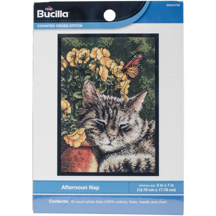 Bucilla Afternoon Nap Counted Cross Stitch Kit