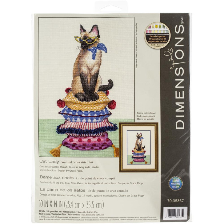 Dimensions Cat Lady Counted Cross Stitch Kit
