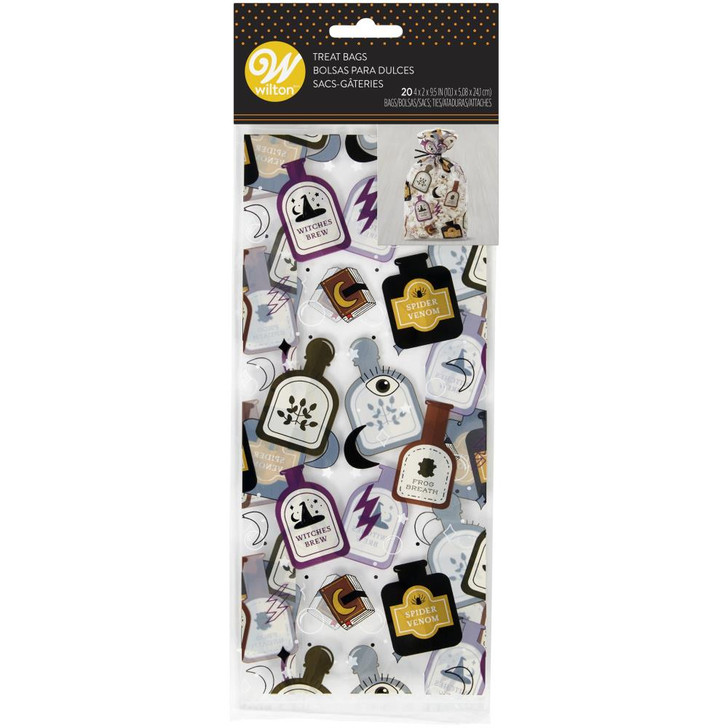 Wilton Spells And Potions Treat Bags 20/Pkg