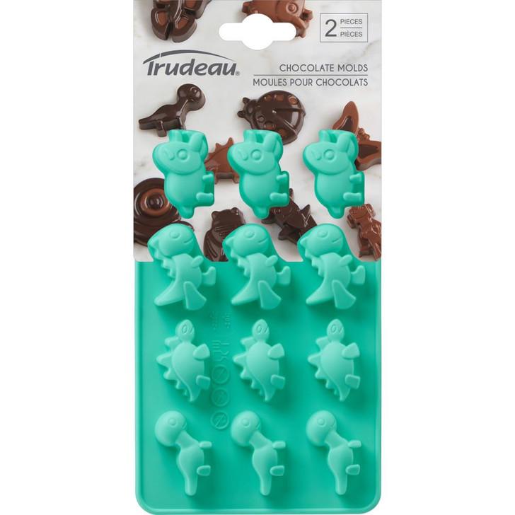 Trudeau Dinosaur Silicone Chocolate Candy Molds 2/Pkg