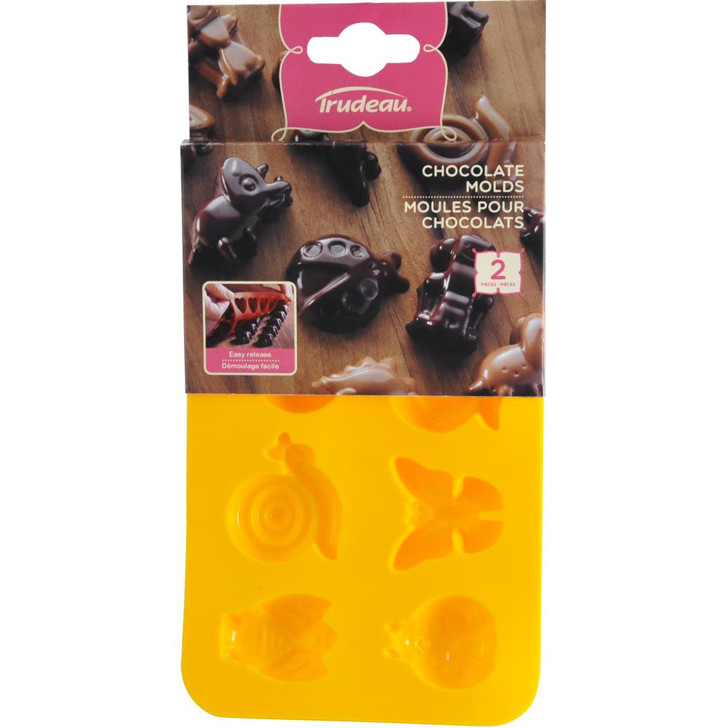 Trudeau Silicone Chocolate Candy Molds 2/Pkg