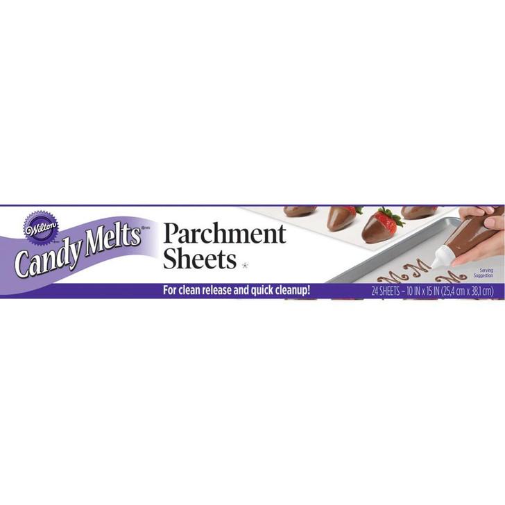 Wilton Candy Melts Parchment Sheets 24/Pkg