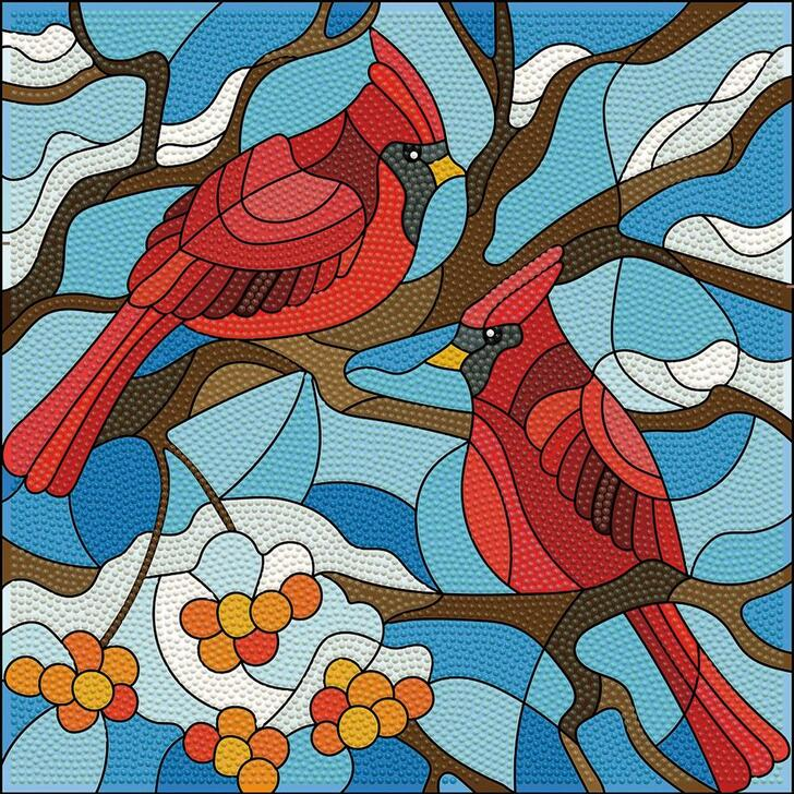Leisure Arts Cardinals Holiday Edition Diamond Art Kit