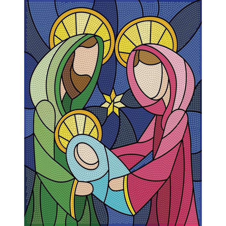 Leisure Arts Stained Glass Nativity Holiday Edition Diamond Art Kit