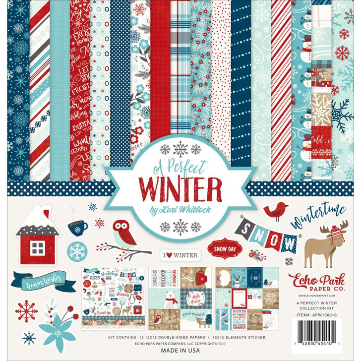 """Echo Park A Perfect Winter Collection Kit 12""""X12"""""""
