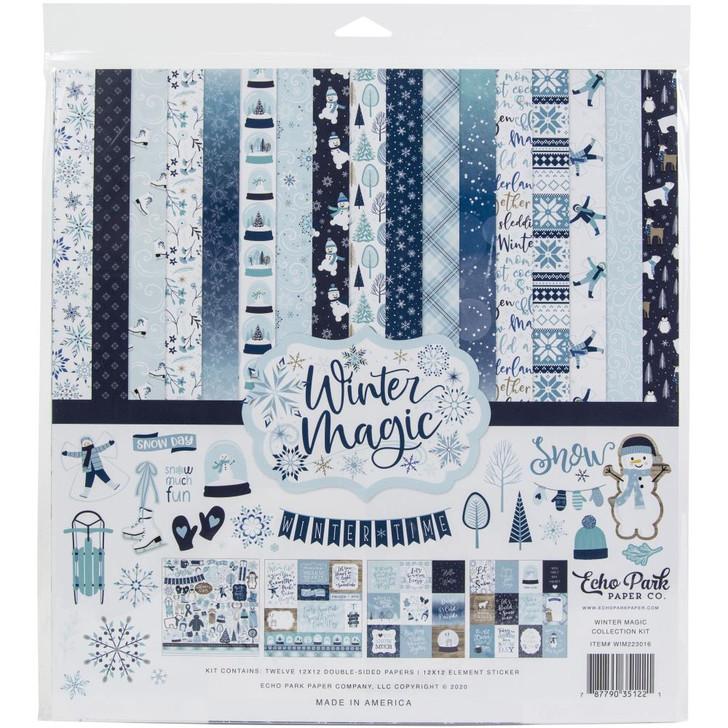 "Echo Park Magic Winter Collection Kit 12""X12"""