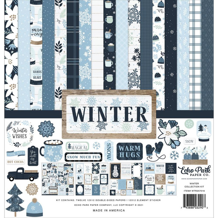 """Echo Park Winter Collection Kit 12""""X12"""""""