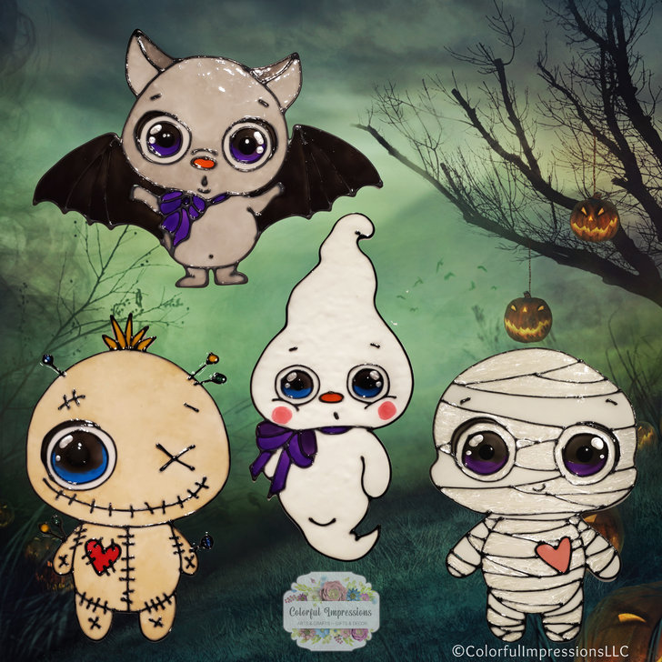 Halloween Cutie Window Clings ~ Choice Of