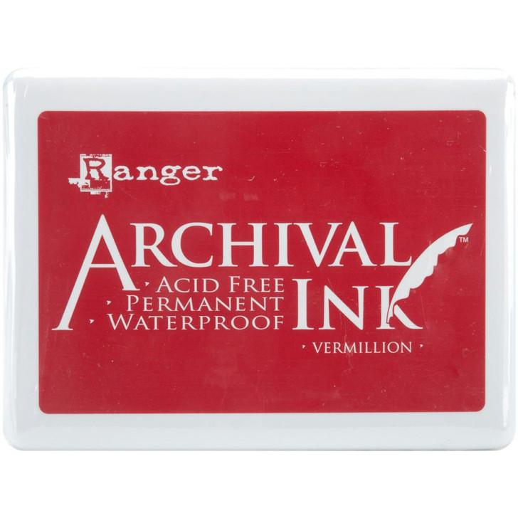Ranger Vermillion Archival Ink Jumbo Ink Pad