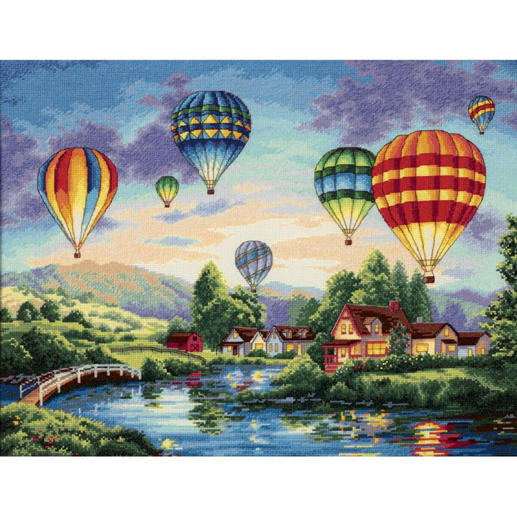 Dimensions Balloon Glow Gold Collection Counted Cross Stitch Kit