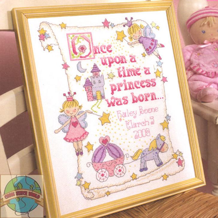 Bucilla Counted Cross Stitch Kit - Princess Birth Record