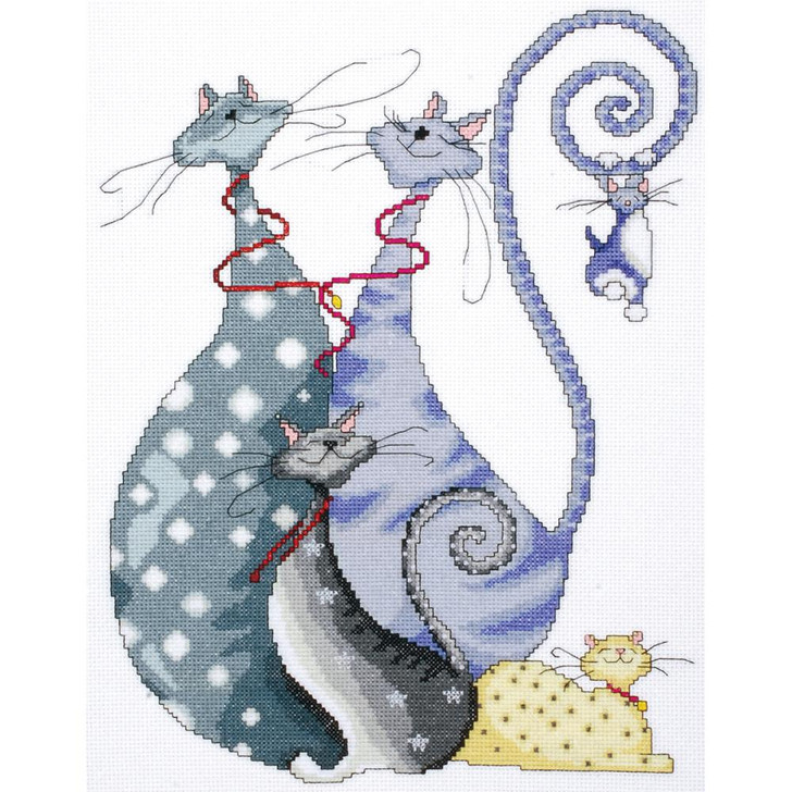 Design Works Counted Cross Stitch Kit - Cat Pack