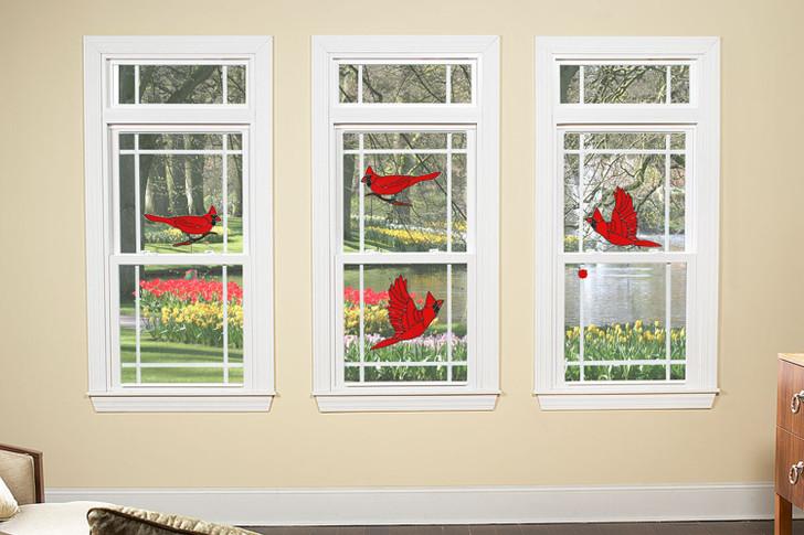 Cardinal Window Cling Set
