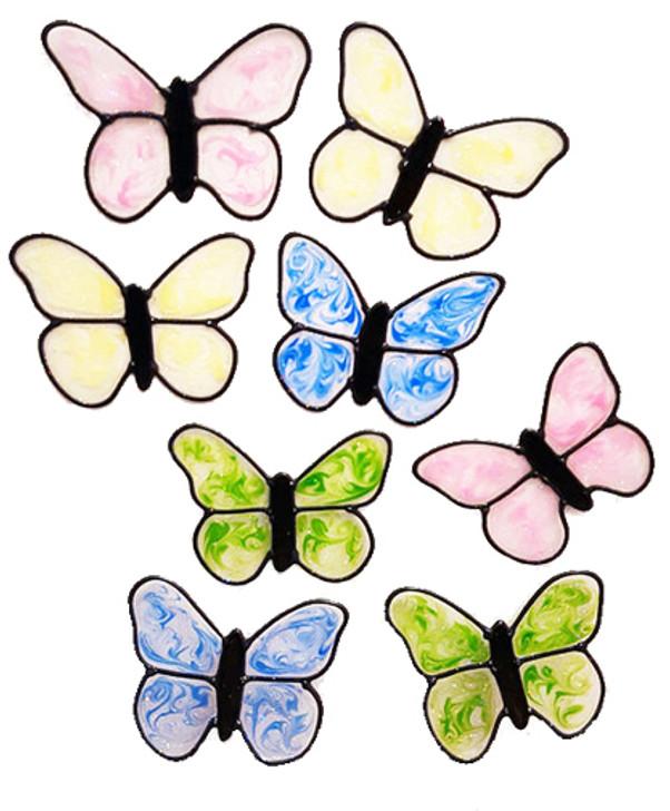 Butterfly Shimmer Window Cling Set
