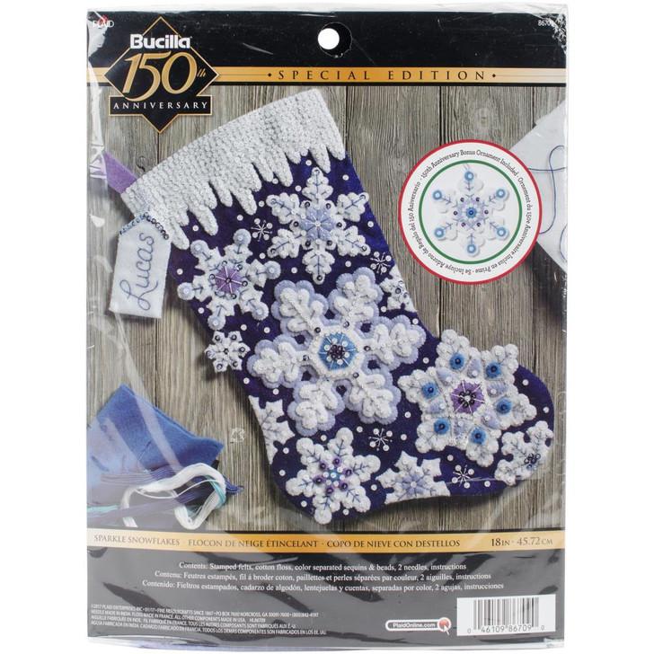 Bucilla Sparkle Snowflake Felt Applique Stocking Kit