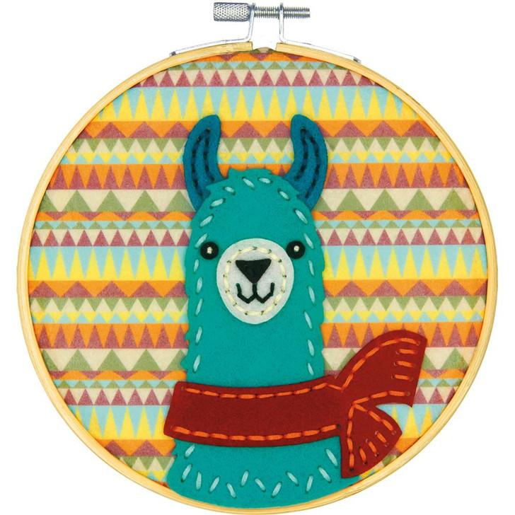 Dimensions Llama DIY Felt Applique