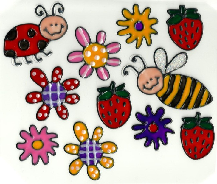 Country Bugs Window Cling Set