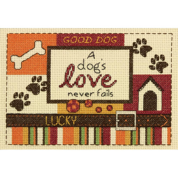 Dimensions Counted Cross Stitch Kit -  A Dog's Love
