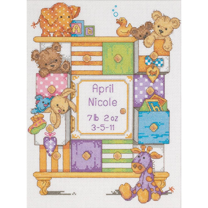 Dimensions Counted Cross Stitch Kit - Baby Drawers Birth Record