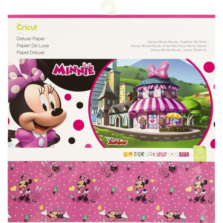 """Cricut Deluxe Paper 12""""x12"""" 12/Pkg - Minnie Mouse"""