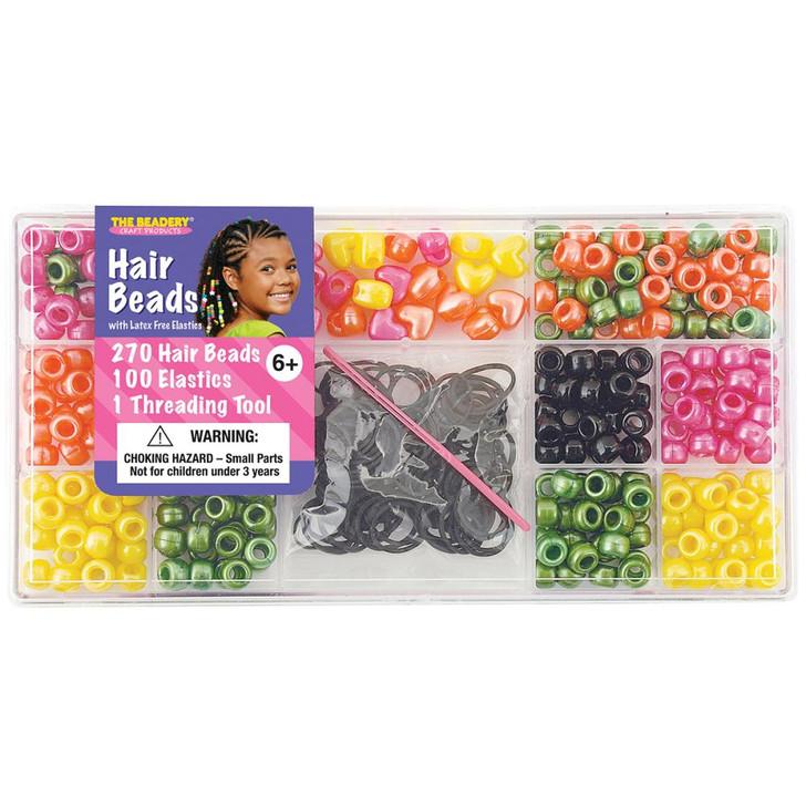 The Beadery Bright Pearl Large Hair Bead Box Kit