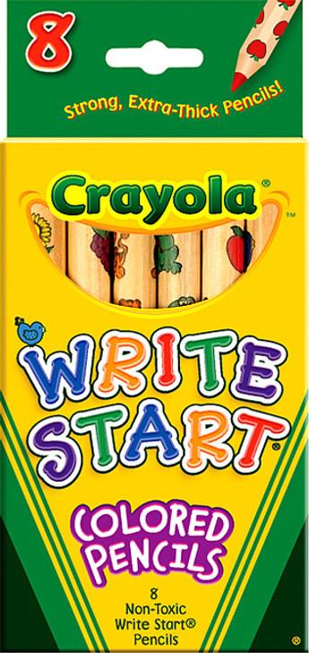 Crayola Write Start Colored Pencils 8/Pkg