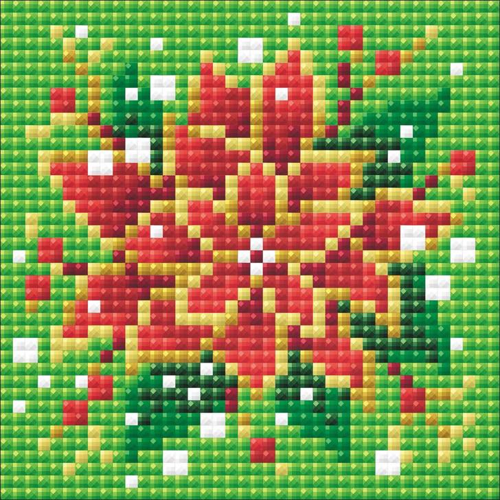 RIOLIS Diamond Mosaic Poinsettia Kit