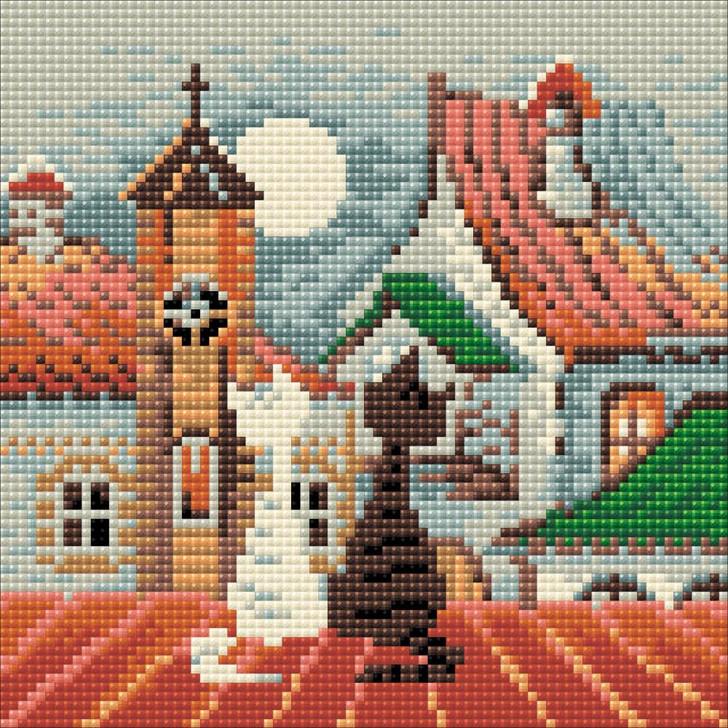 RIOLIS Diamond Mosaic City & Cats Spring Kit