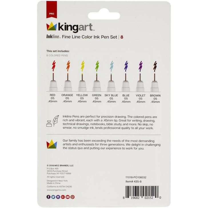 Inkline Fine Line Pen Set 8/Pkg - Color