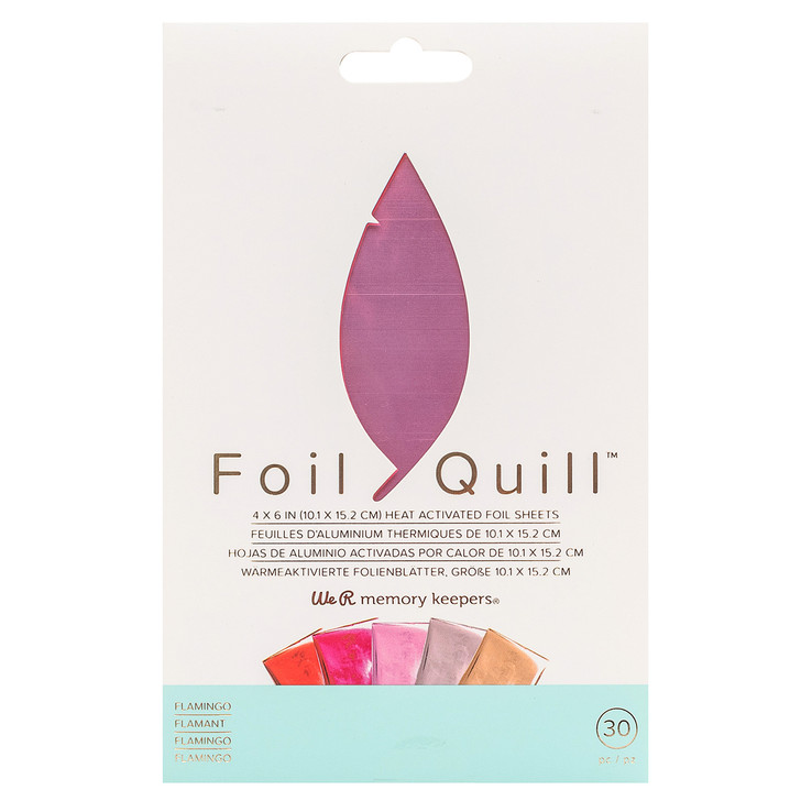 We R Memory Keepers Foil Quill Foil Sheets - Flamingo