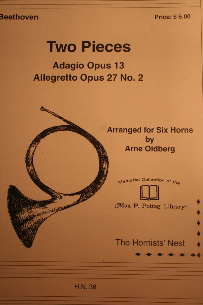 Beethoven, Ludwig - Two Pieces (Adagio, Op. 13 & Allegretto, Op 27, No. 2)