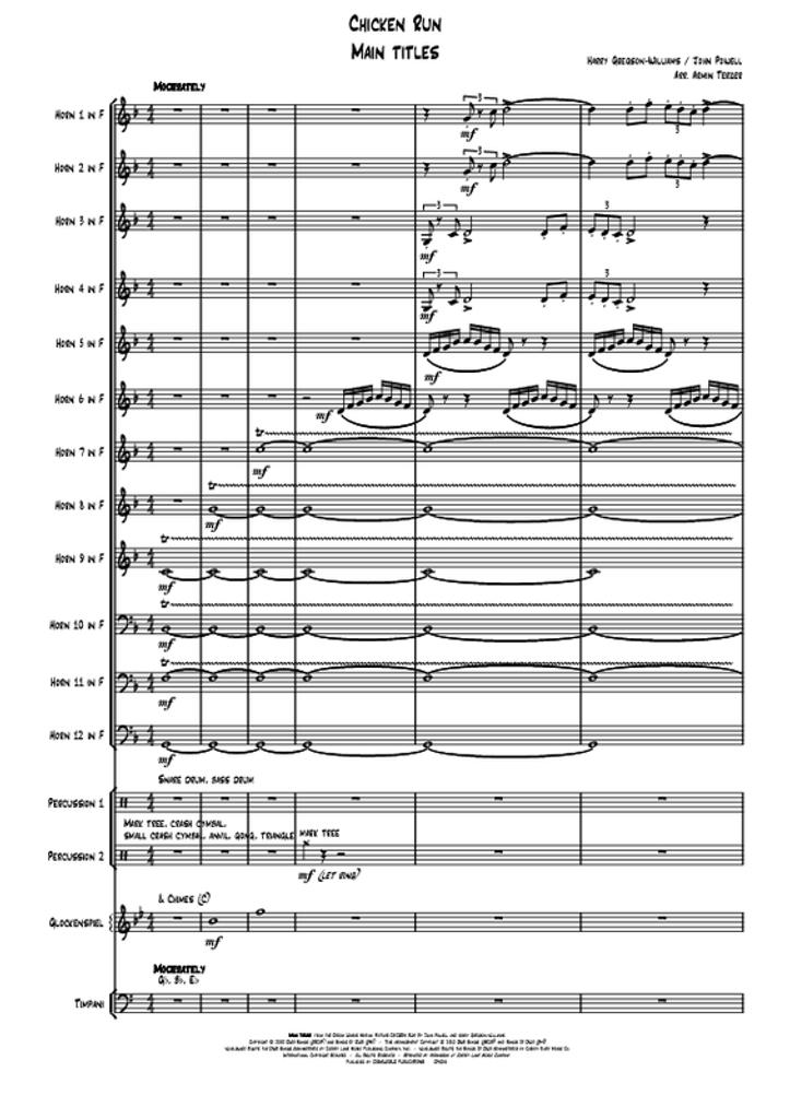 H Gregson-Williams/J Powell - Chicken Run Main Titles