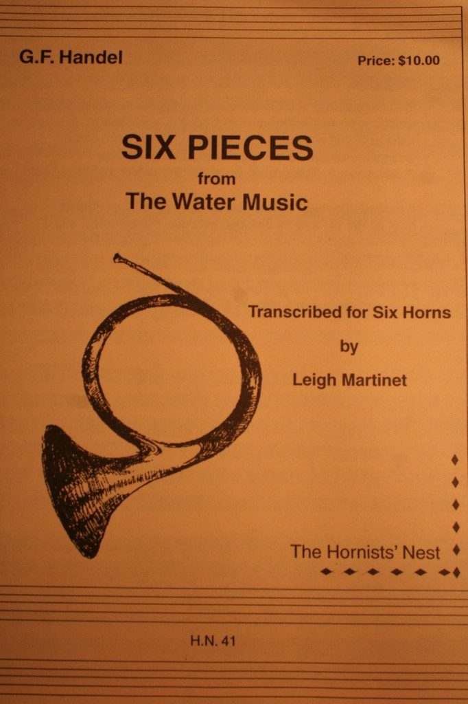 """Handel, G.F. - Six Pieces (from """"The Water Music"""")"""