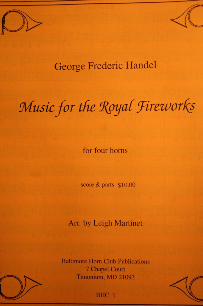 Handel - Music For Royal Fireworks (arr. Leigh Martinet)