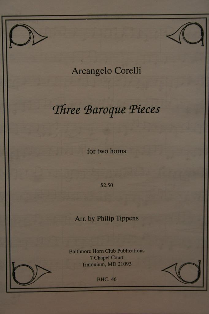 Corelli, Archangelo - 3 Baroque Pieces