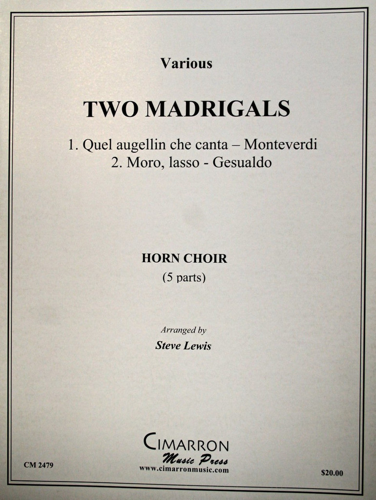 Lewis, Steve - Two Madrigals