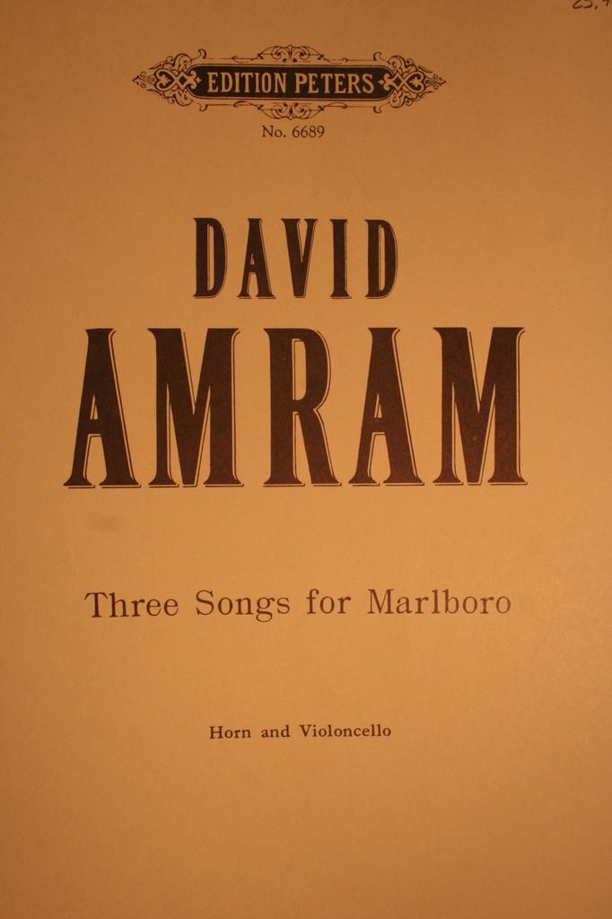 Amram, David - Three Songs For Marlboro