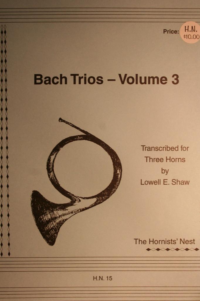 Bach, J.S. - Bach Trios, Vol. 3