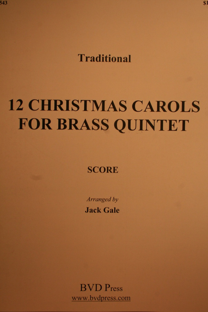 Traditional Christmas - 12 Christmas Carols (Brass Quintet)
