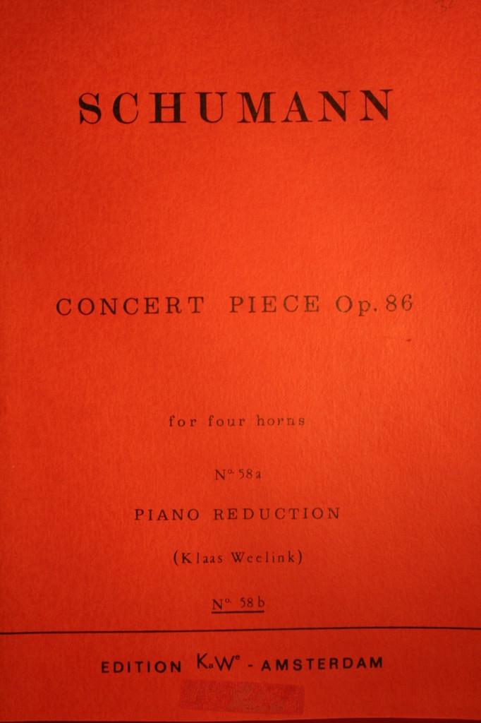 Schumann, Robert - Concert Piece, Op. 86