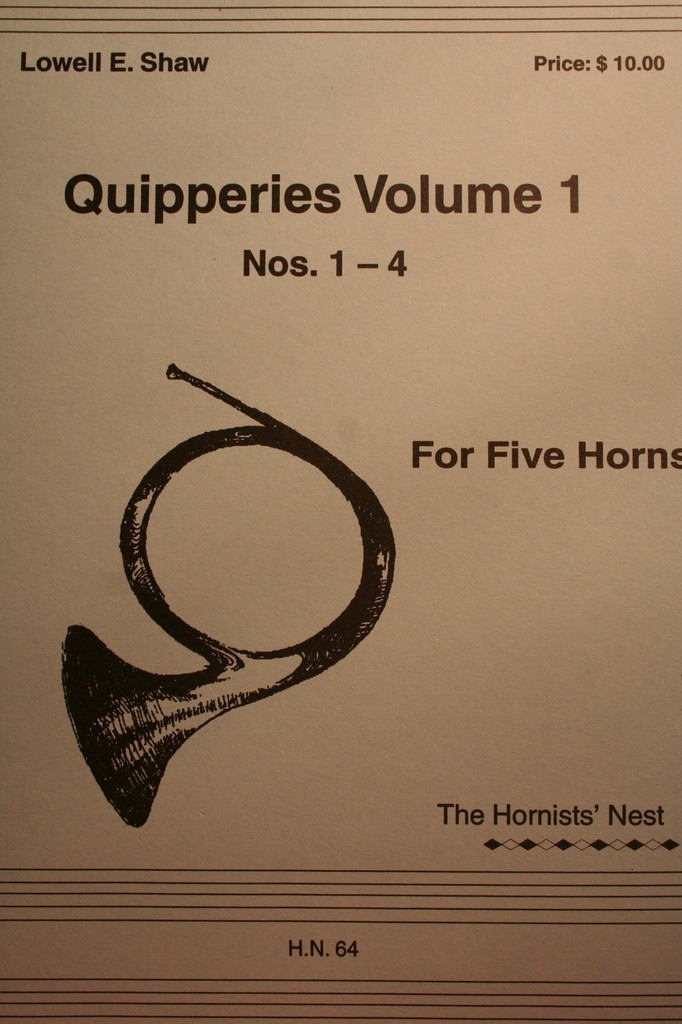 Shaw, Lowell - Quipperies, Vol. 1, Nos. 1-4