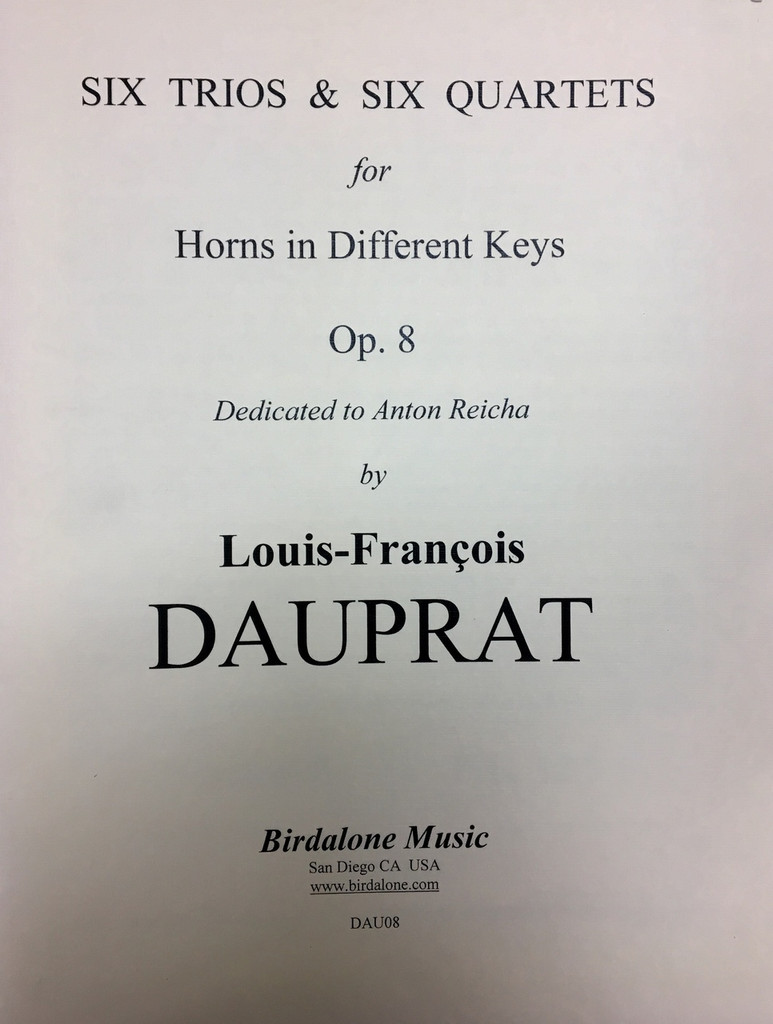 Dauprat, Louis Francois - Trios for horns in different tuning