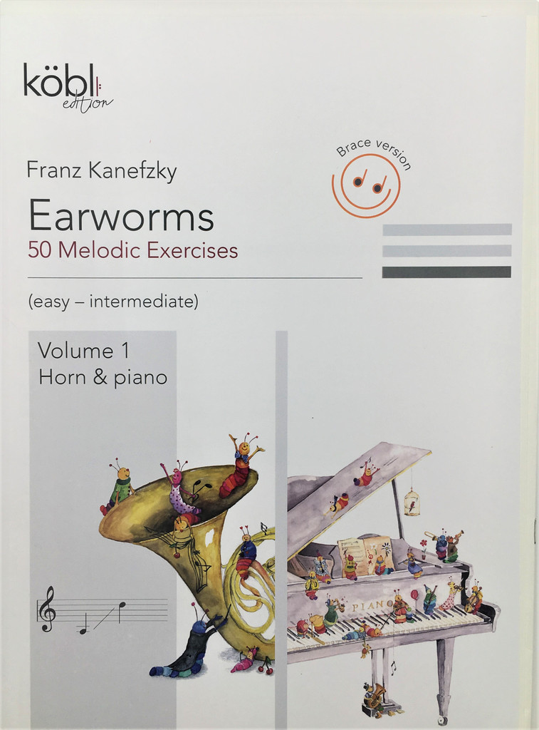 Kanefzky, Franz - Earworms, 50 Melodic Exercises, Volume 1, Horn & Piano