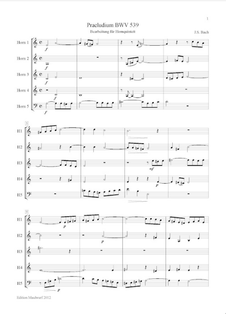 Bach, J.S. - Prelude BWV539